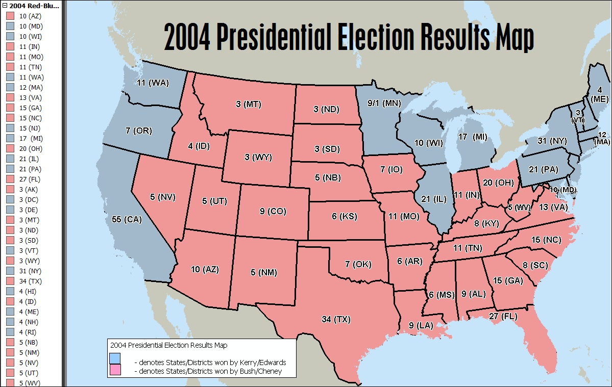Mapping The Election Results In MapPoint Streets Trips Team Blog - Map of us election results