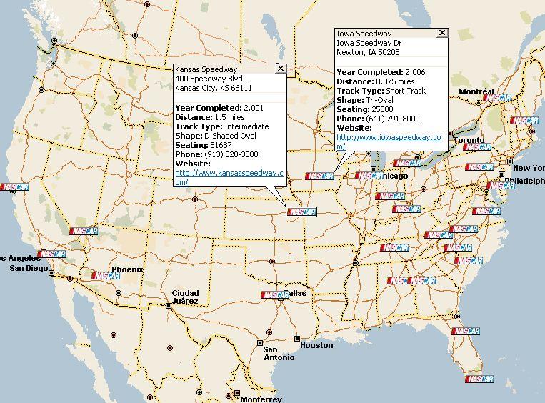 POI Megafile: NASCAR Track Collection | Streets & Trips Team Blog
